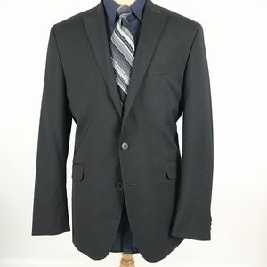 Kenneth Cole 42R Black Blazer Sport Coat